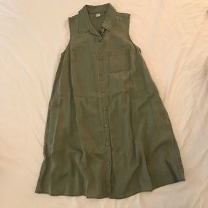 Button down collared dress - Size S
